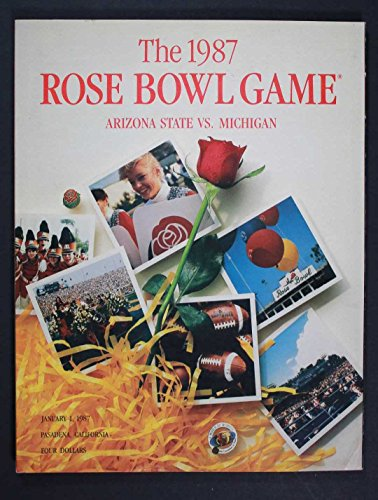 JANUARY 1,1987 ROSE BOWL GAME, ARIZONA STATE VS MICHIGAN FOOTBALL PROGRAM