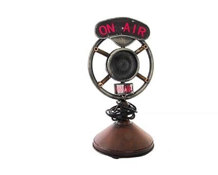 Microfono Decoracion Vintage Amazon Es Hogar