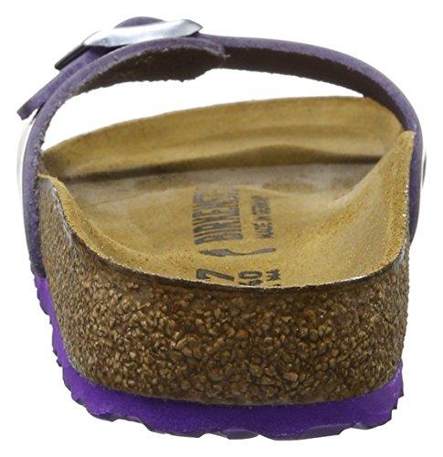 Birkenstock Madrid Leder - Mules Mujer Morado (Metallic Violet)