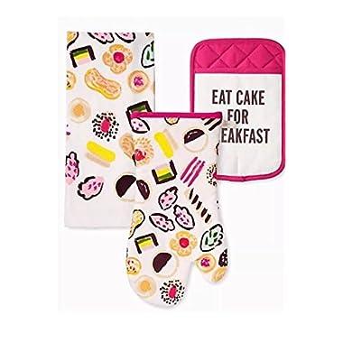 Kate Spade of New York 3 Piece Kitchen Set - Let Them Eat Cake