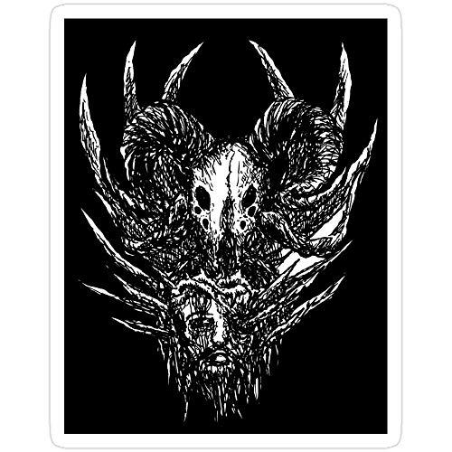 Andrews Mall Antichrist Satanic Goat Artwork by KRAFTD Stickers (3 Pcs/Pack)