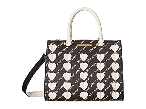 Betsey Johnson Womens Bag - Betsey Johnson Womens Bag In Bag Satchel Black Multi One Size