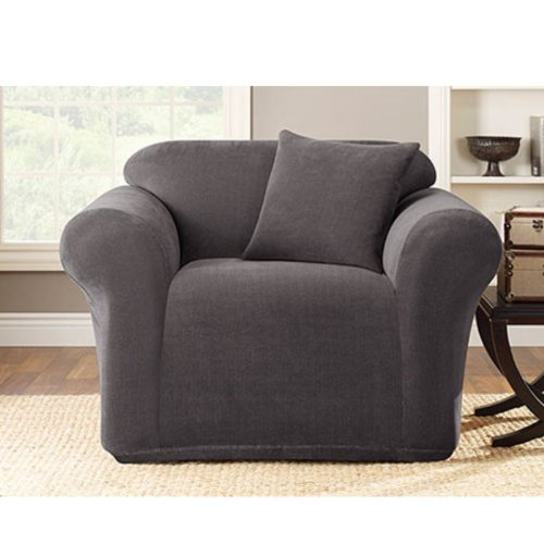 SureFit Stretch Metro 1-Piece - Chair Slipcover  - Gray (SF39399)