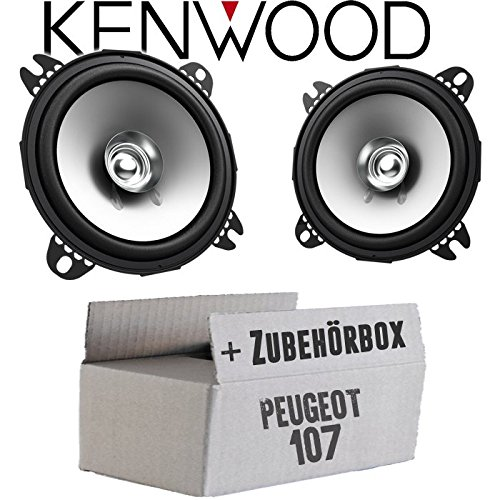 Peugeot 107 - Lautsprecher Boxen Kenwood KFC-S1056-10cm Koax Auto Einbauzubehö r - Einbauset JUST SOUND best choice for caraudio Pe107_KFC-S1056