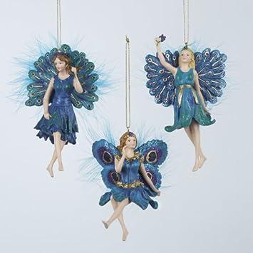 Fairy Christmas Ornaments.Amazon Com Ksa Pack Of 12 Regal Peacock Girl Fairy