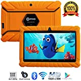 "Contixo Kids Tablet K2 | 7"" Display Android 6.0 Bluetooth WiFi Camera Parental Control Children Infant Toddlers w/Free Tablet Case (Orange)"