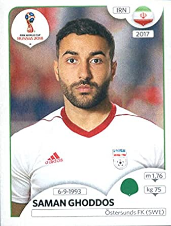 2018 panini world cup stickers russia 187 saman ghoddos iran soccer sticker