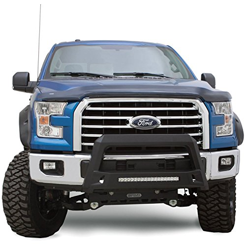 Lund 86521207 Revolution Black Steel Bull Bar with Integrated LED Light Bar for 2011-2016 Ford F-250, F-350, F-450, F-550 Super Duty