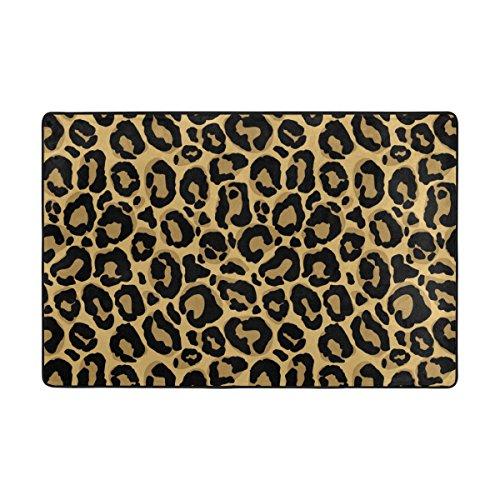 U LIFE Vintage Animal Leopard Texture Stripe Large Area Rug Runner Floor Mat Carpet for Entrance Way Doorway Living Room Bedroom Kitchen Office 36 x 24 & 72 x 48 Inch 3 x 2 & 6 x 4 Feet by ALAZA