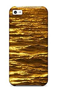 MMZ DIY PHONE CASENew Premium Flip Case Cover Gold Skin Case For ipod touch 5