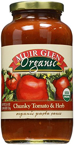 Muir Glen Organic Pasta Sauce-Chunky Tomato & Herb-25.5 oz
