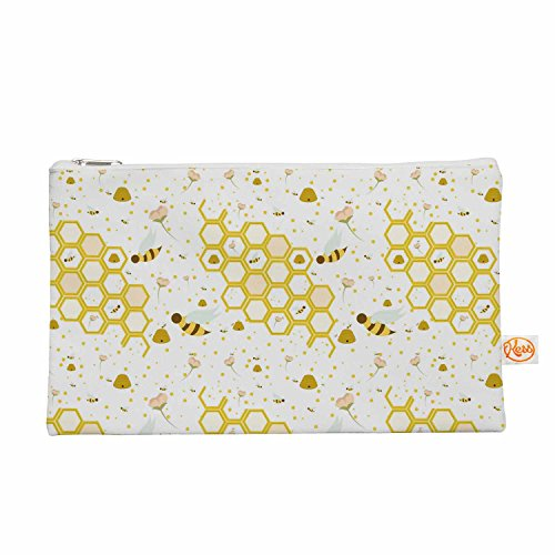 "KESS InHouse Stephanie Vaeth ""Honey Bees"" White Yellow Ev..."