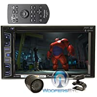 pkg Pioneer AVH-X3800BHS 2-DIN 6.2 Touchscreen LCD Display DVD/CD Receiver with Pandora Control, Dual Camera Input and Built-in HD Radio + XO Vision HTC-36 Backup Camera with Nightvision