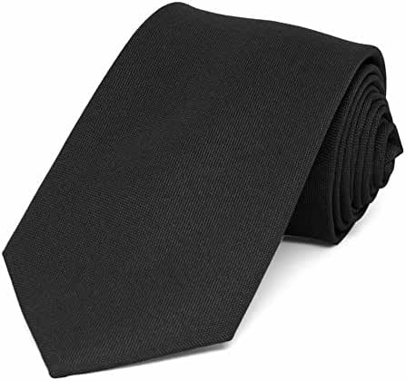 TieMart Black Matte Finish Necktie, 3