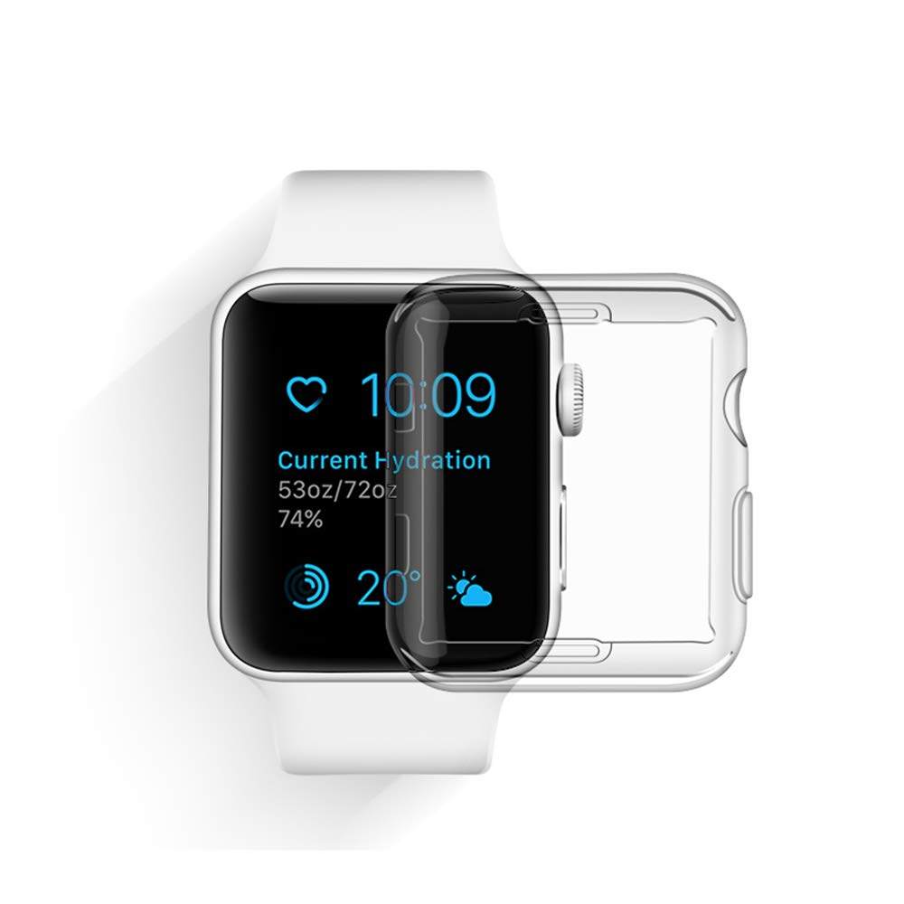 for Apple Watch 42mm Screen Case, TPU Transparent Screen Cover All-Around Protective Cover Shell for Apple iWatch Series3/Series2