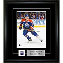 Frameworth Connor McDavid-Framed 8x10 Pin and Plate Etched Mat-Edmonton Oilers Blue Action