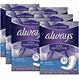 Always Xtra Protection Daily Liners, Regular, 50 Count - Pack of 6 (300 Total Count)