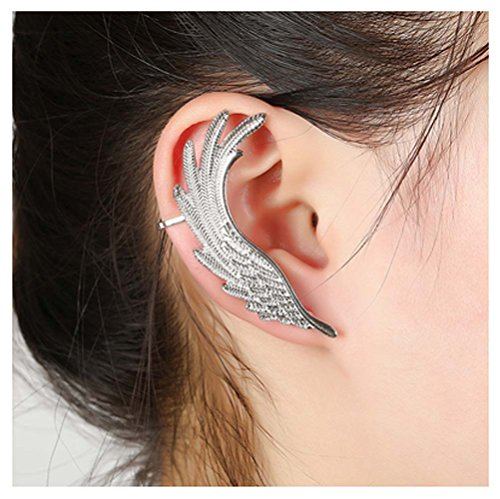Mr Ribbt Hot Personalized Exaggerated Fashion Hypoallergenic Earrings Spiral Ear Clip (Homemade Indian Boy Costumes)