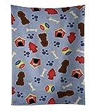"Caroline's Treasures BB2676KTWL Dog House Irish Water Spaniel Kitchen Towel, 25"" x 15"", Multicolor"