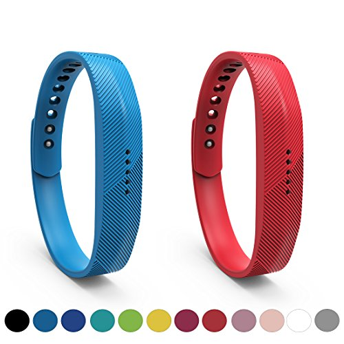 Fitbit Flex 2 Accessory Replacement Wristbands - Feskio Soft Silicone Metal Clasp Watch Buckle Design Wrist Strap Bracelet Sport Watch Band Holder Case Pouch for Fitbit Flex 2 Fitness Activity -
