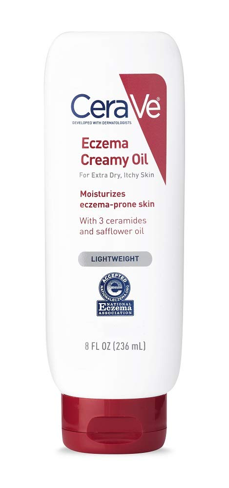 CeraVe Eczema Creamy Oil | 8 Fluid Ounce | Eczema Treatment Body Oil for Dry Skin & Itch Relief | Fragrance Free - Packaging may vary