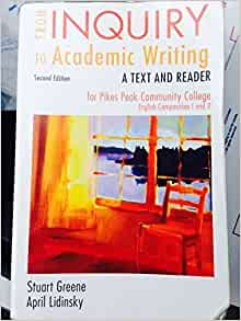 Search results for: 'from inquiry to academic writing a text and reader'