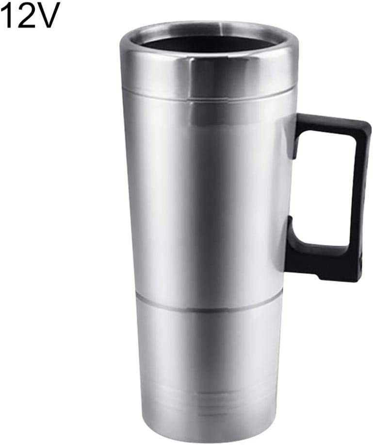 Kekailu Cups Bottle,12/24V Stainless Steel Travel Car Heating Cup Hot Water Coffee Tea Thermal Mug
