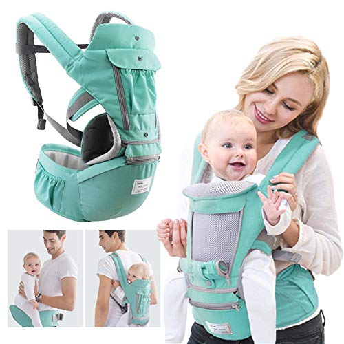 Baby Soft Carrier with Hip Seat 360 All-in-One Wrap Backpack Ergonomic Award-Winning Travel Seats for Newborn and Baby