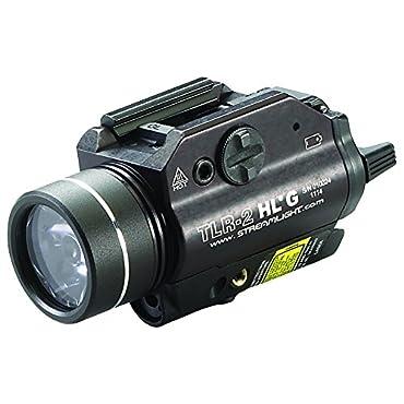 Streamlight 69265 TLR-2 High Lumen G Rail Mounted Flashlight with Green Laser, Black, 720 Lumens