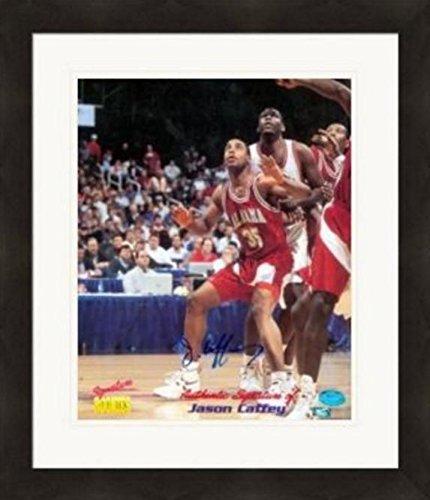 Autographed Jason Caffey Photograph - 8x10 Alabama Crimson Tide Matted & Framed - Autographed NBA Photos
