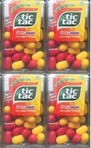 TIC TAC CHERRY PASSION MINT CANDY 12.6 gm ( PACK OF 4)