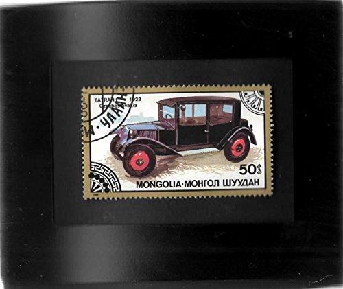 Tchotchke Framed Stamp Art - Vintage Czech Automobile (Stamp Framed)