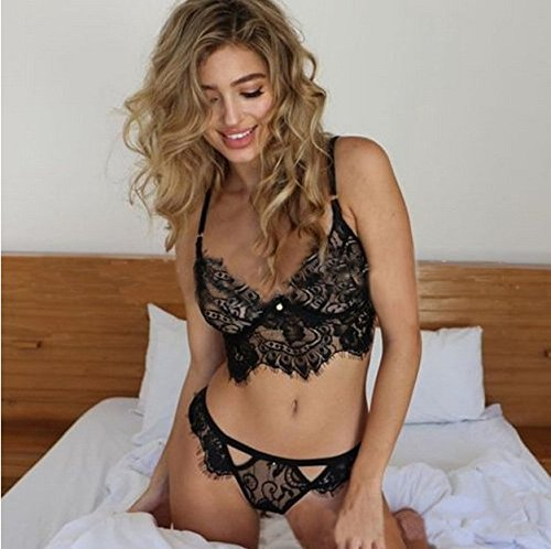 string Biancheria da in Girl Nero delle Yuson Sleepwear intima Babydoll G pizzo donne notte 1w75x56Hq