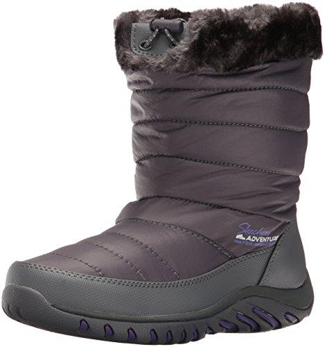 Skechers Women's Descender Winter Boot, Charcoal, 8 M US