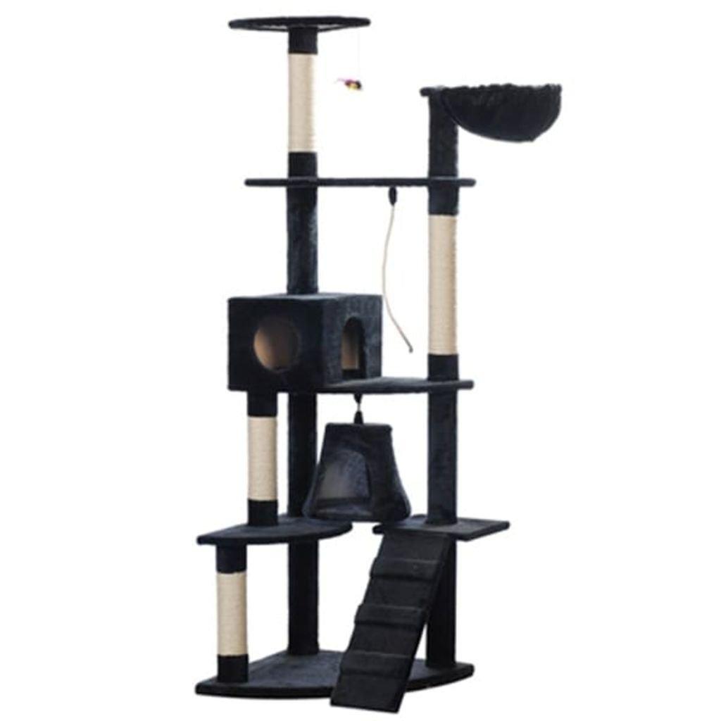 SENLUOWX Scraper For Cats 191 cm Dark bluee Plush Cat Gym