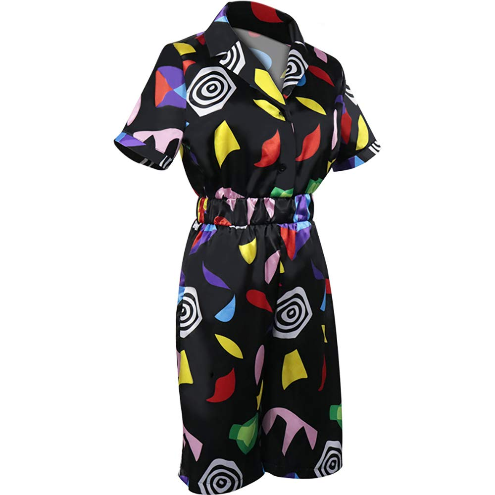 Upretty Mall Eleven Cosplay Costume Stranger Things Women Girls Color Printing Short Sleeve Romper Dress Jumpsuit Outfit