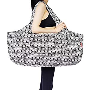 Aozora Yoga Mat Bag Large Yoga Mat Tote Sling Carrier with Pockets Fits Mats with Multi-Functional Storage Pockets Light…