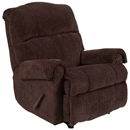 Flash Furniture Contemporary Kelly Chocolate Super Soft Microfiber Rocker Recliner ()