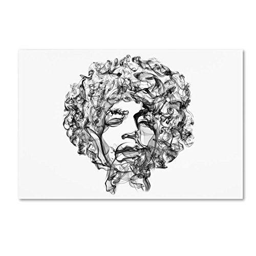 Jimi Hendrix by Octavian Mielu, 16x24-Inch Canvas Wall Art