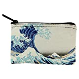 Great Wave Tsunami Japanese Painting Coin Purse