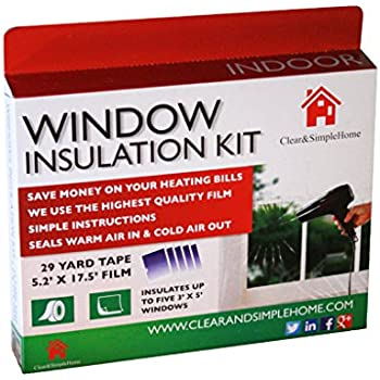 Window Insulation Kit By Clear & Simple Home Uses Our 5 Window Insulation Film Using 5.2ft x 17.5ft Heat Shrink Cling Film And 29 Yard Tape A Great Winter Window Insulator