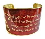 Serenity Prayer Vintage Style Brass Cuff Bracelet