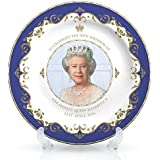 Queen Elizabeth II 90th Birthday Plate 8 (20cm) - 21st April 2016 Bone China by Lesser & Pavey