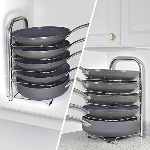 Bth Height Adjustable Pot Pan Organizer Rack 5 Tier 10