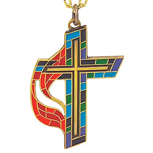 United Methodist Church Stained Glass Cross
