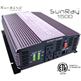 Ramsond SunRay 1500/3000 Watts W True Pure Sine Wave Power Inverter Generator (Remote Starter Ready) Back Up 12V DC to 115V 60Hz AC RV Truck Car Solar Off Grid ETL Listed to Conform to UL 458 STD