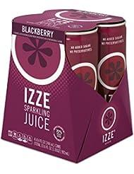 IZZE Sparkling Juice, Blackberry, 8.4 oz Cans, 4 Count