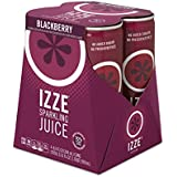 IZZE Sparkling Juice, Blackberry, 8.4 oz Cans, 4 Count