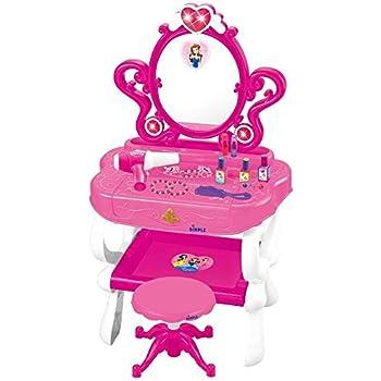 Princess Vanity Set Girls Toy With 16 Fashion U0026 Makeup Accessories,  Functional Piano Keyboard U0026