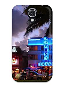 Best 3322421K54663584 Special Skin Case Cover For Galaxy S4, Popular Miami Phone Case